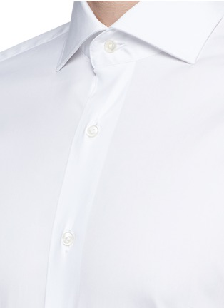 Detail View - Click To Enlarge - Lardini - Slim fit stretch cotton poplin shirt