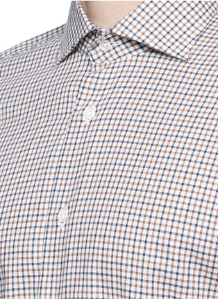 Detail View - Click To Enlarge - Lardini - Check cotton shirt