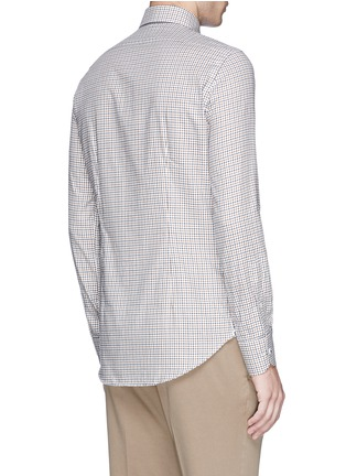 Back View - Click To Enlarge - Lardini - Check cotton shirt