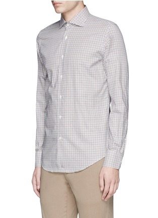 Front View - Click To Enlarge - Lardini - Check cotton shirt