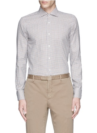 Main View - Click To Enlarge - Lardini - Check cotton shirt