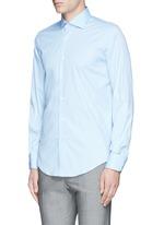 Slim fit stretch cotton poplin shirt