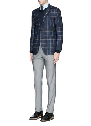 Figure View - Click To Enlarge - Lardini - Slim fit stretch cotton poplin shirt