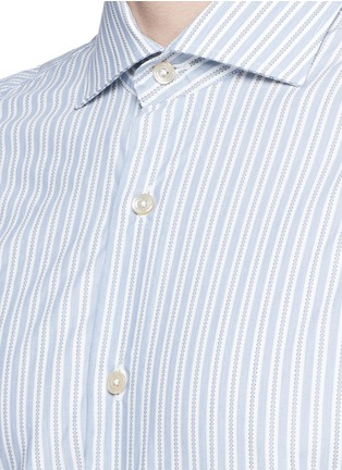 Detail View - Click To Enlarge - Lardini - Diamond stripe jacquard cotton shirt