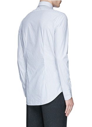 Back View - Click To Enlarge - Lardini - Diamond stripe jacquard cotton shirt