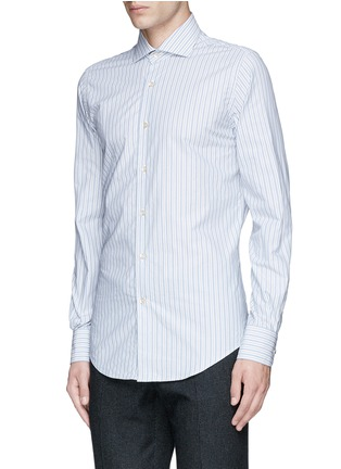 Front View - Click To Enlarge - Lardini - Diamond stripe jacquard cotton shirt