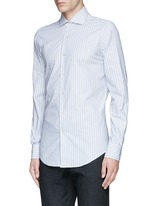Diamond stripe jacquard cotton shirt