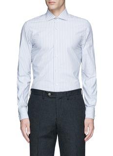 LardiniDiamond stripe jacquard cotton shirt