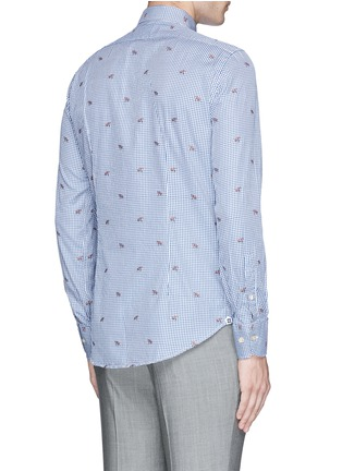 Back View - Click To Enlarge - Lardini - Fox jacquard gingham check shirt