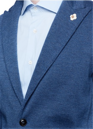 Detail View - Click To Enlarge - Lardini - Wool knit soft blazer