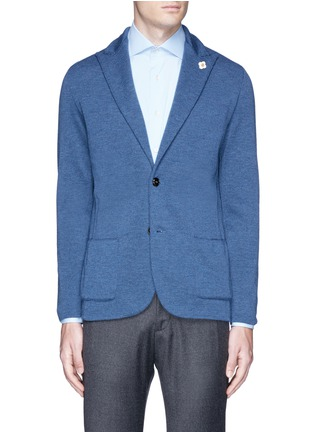 Main View - Click To Enlarge - Lardini - Wool knit soft blazer