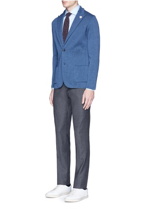 Figure View - Click To Enlarge - Lardini - Wool knit soft blazer