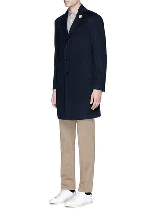Front View - Click To Enlarge - Lardini - Cashmere flannel coat