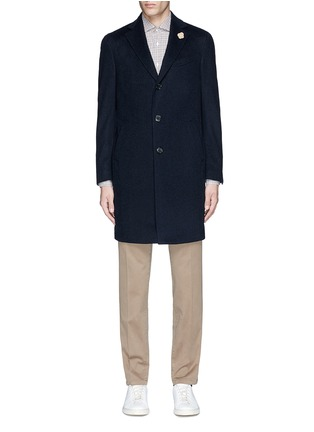 Main View - Click To Enlarge - Lardini - Cashmere flannel coat