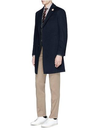 Figure View - Click To Enlarge - Lardini - Cashmere flannel coat