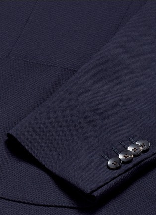 Detail View - Click To Enlarge - Lardini - 'Specialine' wool hopsack blazer