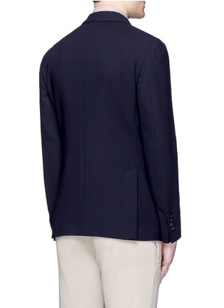 Back View - Click To Enlarge - Lardini - 'Specialine' wool hopsack blazer