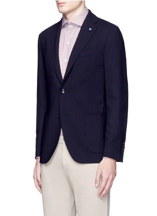 Front View - Click To Enlarge - Lardini - 'Specialine' wool hopsack blazer
