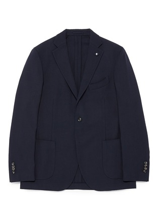 Main View - Click To Enlarge - Lardini - 'Specialine' wool hopsack blazer