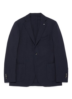 Lardini'Specialine' wool hopsack blazer