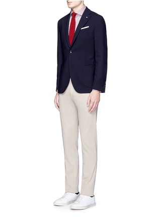 Figure View - Click To Enlarge - Lardini - 'Specialine' wool hopsack blazer