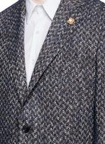 'Specialine' chevron stripe wool-cotton bouclé soft blazer