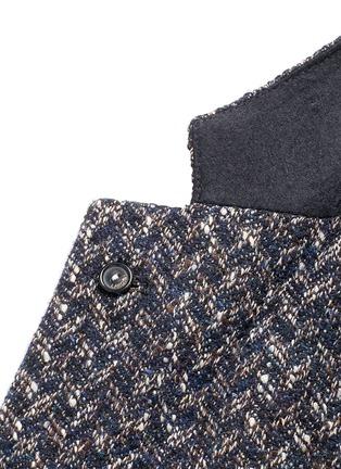 Detail View - Click To Enlarge - Lardini - 'Specialine' chevron stripe wool-cotton bouclé soft blazer