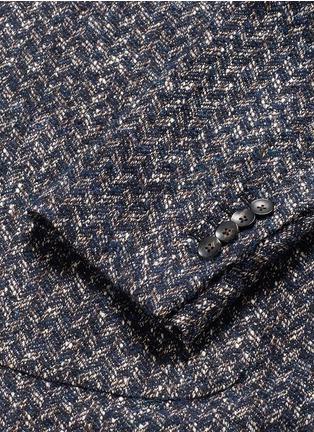 - Lardini - 'Specialine' chevron stripe wool-cotton bouclé soft blazer