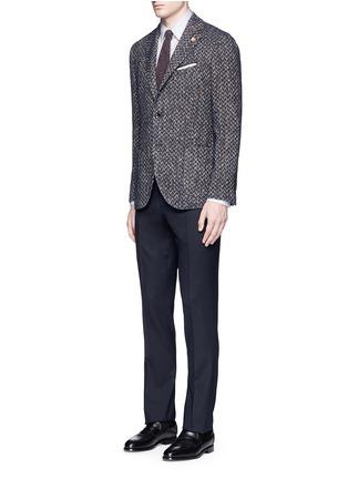 模特儿示范图 - 点击放大 - LARDINI - 拼色折纹西服外套