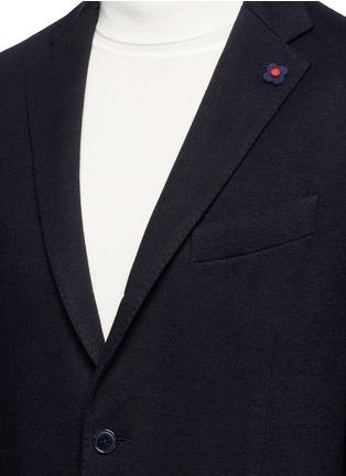 Detail View - Click To Enlarge - Lardini - Cotton-cashmere jersey soft blazer