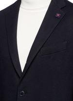 Cotton-cashmere jersey soft blazer