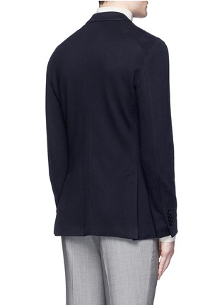 Back View - Click To Enlarge - Lardini - Cotton-cashmere jersey soft blazer