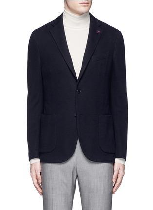 Main View - Click To Enlarge - Lardini - Cotton-cashmere jersey soft blazer
