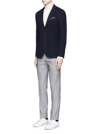 Figure View - Click To Enlarge - Lardini - Cotton-cashmere jersey soft blazer