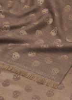 Skull jacquard wool-silk scarf