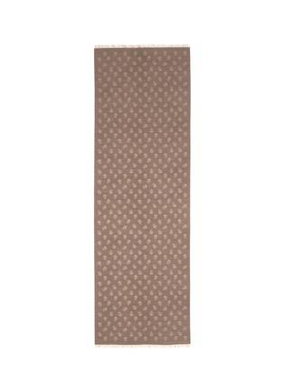 Alexander McQueen-Skull jacquard wool-silk scarf