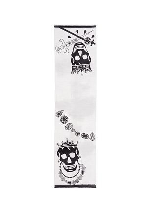 Alexander McQueen-King and queen skull jacquard scarf