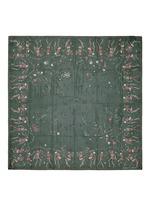 'Funny Bones Dance' skull print silk chiffon scarf