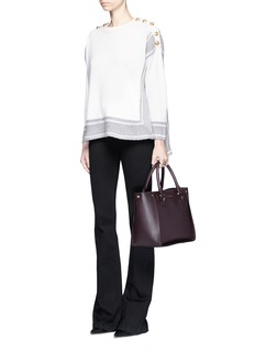 Alexander McQueen'Inside Out' top zip leather shopper tote