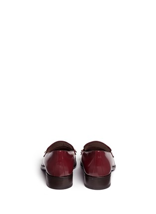 Back View - Click To Enlarge - Alexander McQueen - Stud kiltie vamp leather loafers