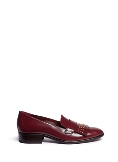 Alexander McQueen Stud kiltie vamp leather loafers