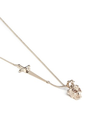 Detail View - Click To Enlarge - Alexander McQueen - Star dust Swarovski crystal skull pendant necklace