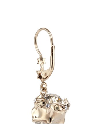 Detail View - Click To Enlarge - Alexander McQueen - Swarovski crystals royal skull drop earrings