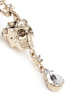 Swarovski crystals royal skull drop earrings