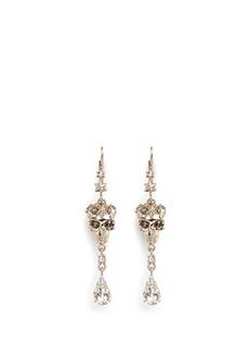 ALEXANDER MCQUEENSwarovski crystals royal skull drop earrings