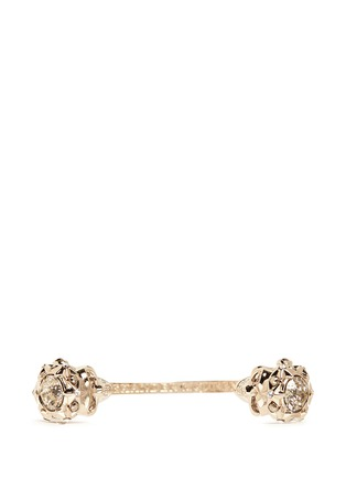 Figure View - Click To Enlarge - Alexander McQueen - Star dust twin skull cuff