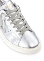 'Starter' metallic leather sneakers