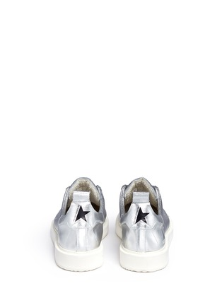 Back View - Click To Enlarge - Golden Goose - 'Starter' metallic leather sneakers
