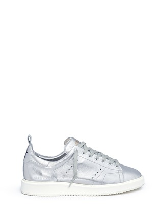 Main View - Click To Enlarge - Golden Goose - 'Starter' metallic leather sneakers