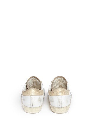 Back View - Click To Enlarge - Golden Goose - 'Superstar' distressed metallic suede leather sneakers